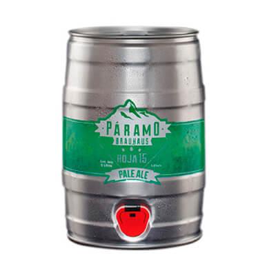Barril cerveza rubia roja PALE ALE 5lts.