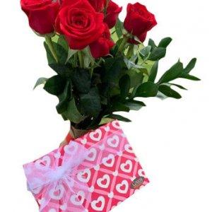 San Valentin 16 Bombones y Rosas